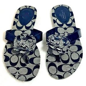 Coach Samira Signature Thong Sandals Size 7.5 B